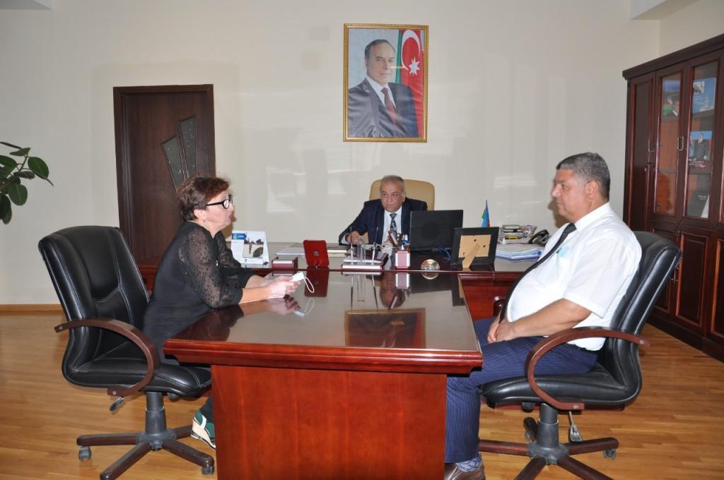 Встреча с первым заместитем Главы ИВ Пираллахинского района и начальником Отдела по общественно-политическим вопросам 1